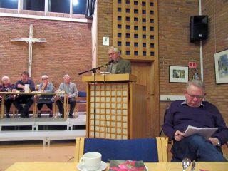 Bestyrelsesmedlem Poul Larsen. på talerstolen.